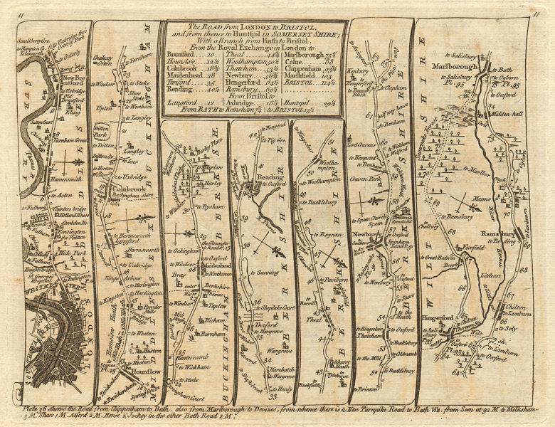 Associate Product London Maidenhead Reading Newbury Hungerford Marlborough. KITCHIN road map 1767