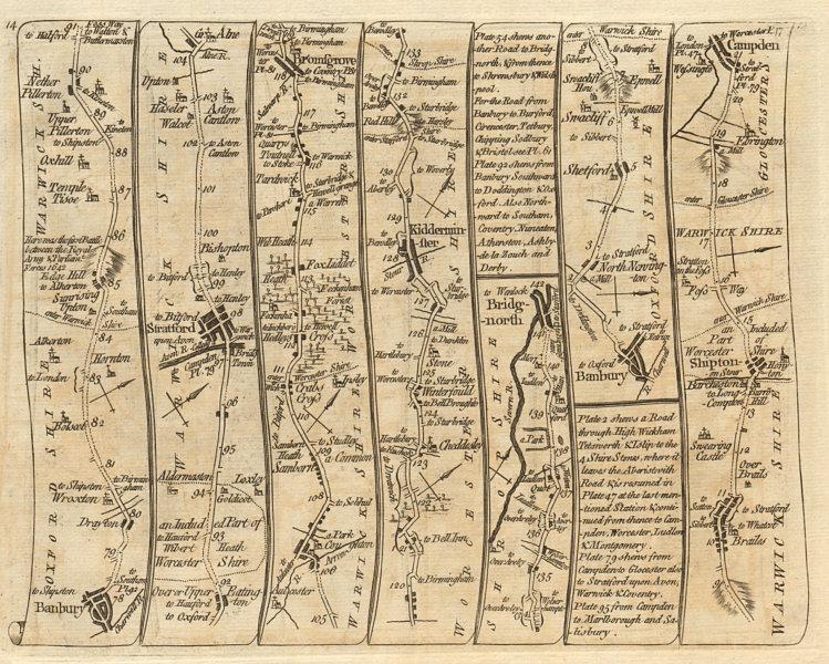 Associate Product Banbury Stratford Bromsgrove Kidderminster Bridgnorth. KITCHIN road map 1767