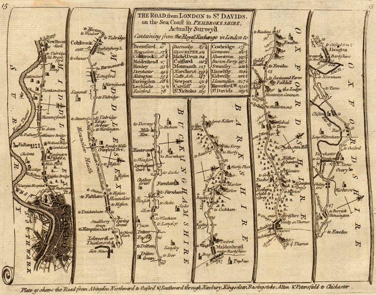 Associate Product London Hammersmith Slough Maidenhead Henley Abingdon. KITCHIN road map 1767