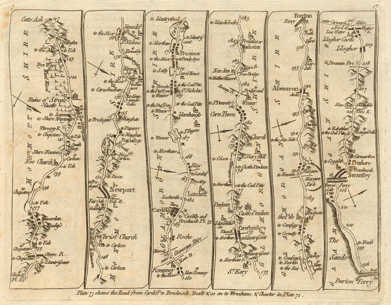 Associate Product Newport Cardiff Cowbridge Aberavon Briton Ferry Swansea. KITCHIN road map 1767