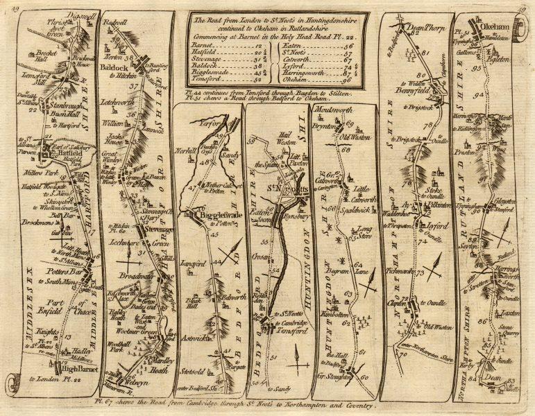 Associate Product Barnet Potters Bar Hatfield Stevenage St Neots Oakham. KITCHIN road map 1767