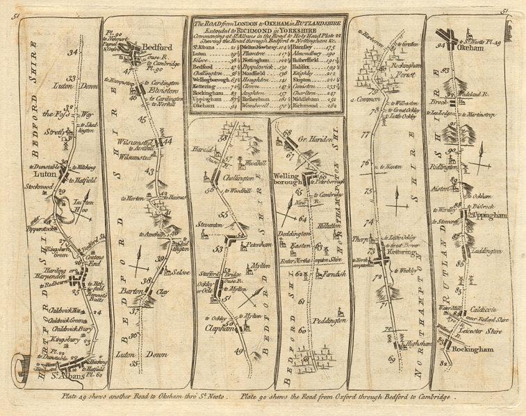 Associate Product St Albans Luton Bedford Wellingborough Kettering Oakham. KITCHIN road map 1767