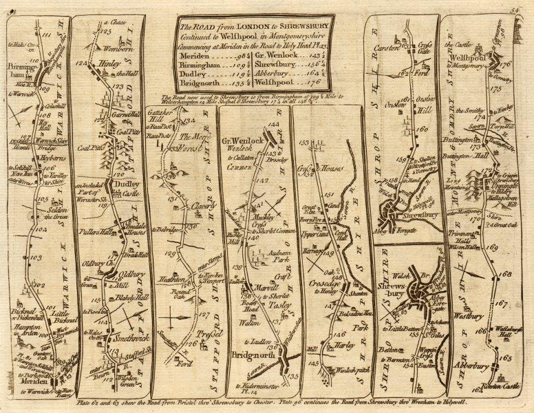 Associate Product Birmingham Dudley Bridgnorth Shrewsbury Welshpool. KITCHIN road map 1767
