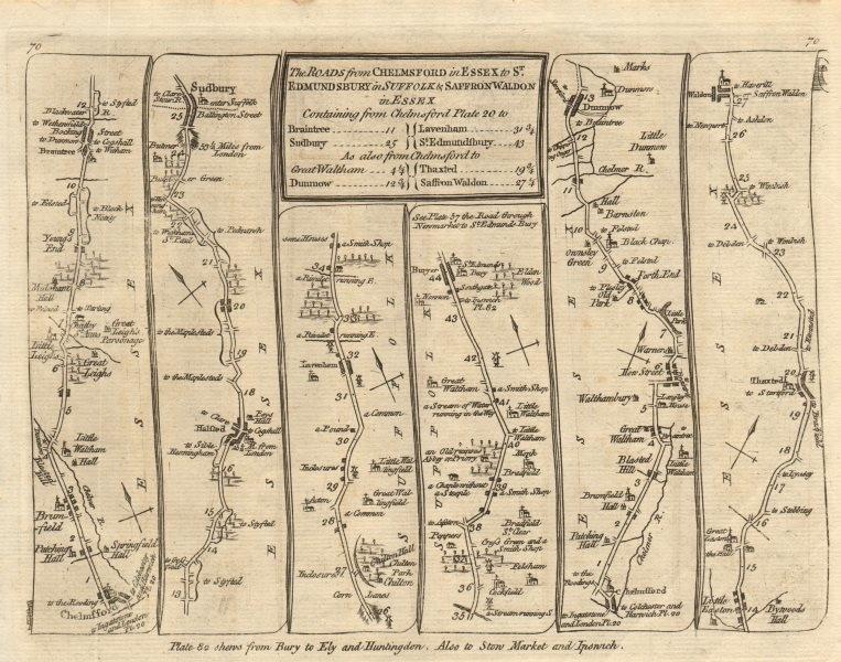 Associate Product Chelmsford Braintree Bury St Edmunds Saffron Walden. KITCHIN road map 1767