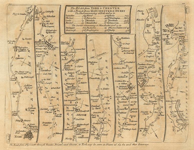 Associate Product York Leeds Rochdale Bury Manchester Salford Warrington. KITCHIN road map 1767
