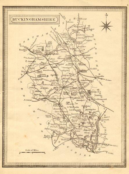 Associate Product Antique county map of Buckinghamshire. John Heywood. Railways. Coach roads c1864