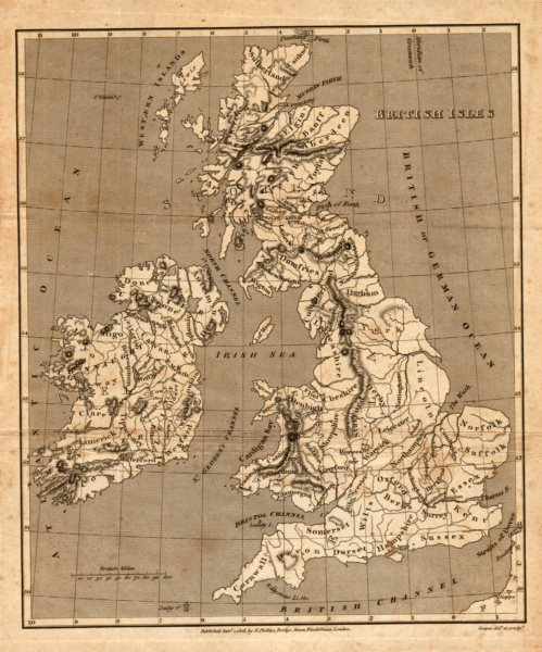 Associate Product Antique map of the BRITISH ISLES by Henry Cooper for Benjamin Capper 1808