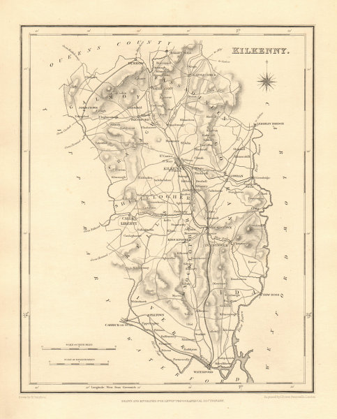 Associate Product COUNTY KILKENNY antique map for LEWIS by CREIGHTON & DOWER - Ireland 1846