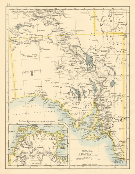 Map Of South Australia And Northern Territory.Details About South Australia Arnhem Land Northern Territory Johnston 1892 Old Antique Map