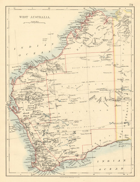Associate Product WESTERN AUSTRALIA Explorers route Giles Forrest Warburton Lefroy Hunt 1892 map