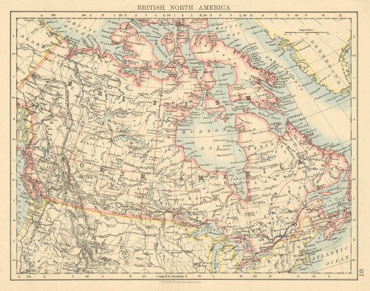 BRITISH NORTH AMERICA Canada. Manitoba enlarged eastward. Canadian Pac. 1892 map