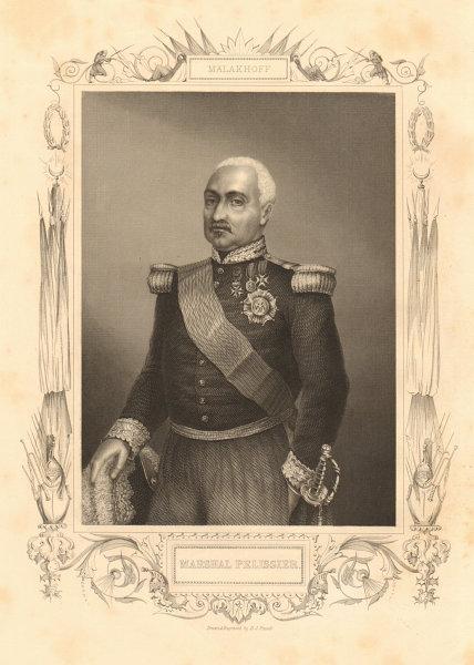 Associate Product CRIMEAN WAR. Marshal Aimable-Jean-Jacques Pélissier, 1st Duc de Malakoff 1860