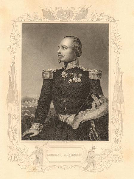 Associate Product CRIMEAN WAR. Marshal François Marcellin Certain de Canrobert 1860 old print