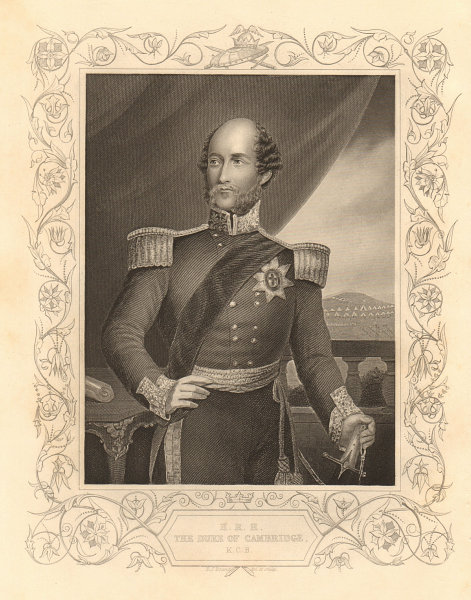 Associate Product CRIMEAN WAR. The Duke Of Cambridge. Prince George William Frederick Charles 1860