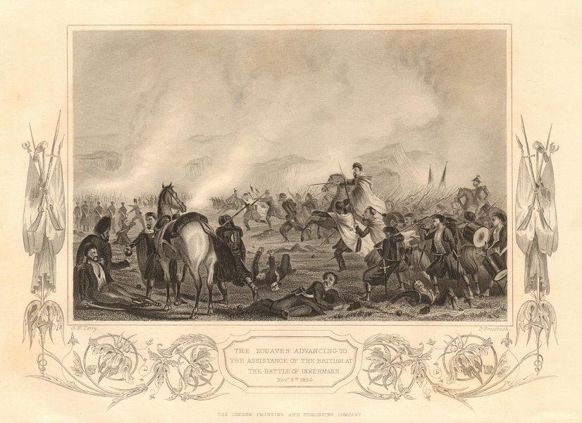 Associate Product CRIMEAN WAR. Zouaves helping the British. Nov 5th 1854 Battle of Inkerman 1860