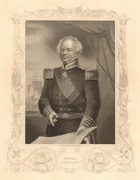Associate Product CRIMEAN WAR. Admiral Sir James Whitley Deans Dundas 1860 old antique print