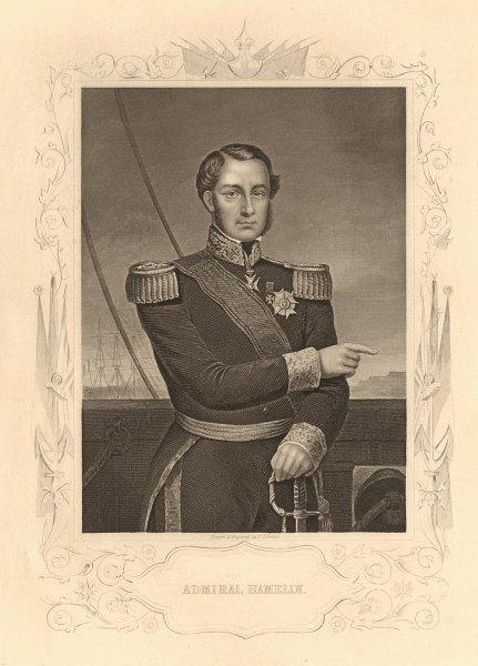 Associate Product CRIMEAN WAR. Admiral Ferdinand-Alphonse Hamelin 1860 old antique print picture