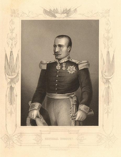 Associate Product CRIMEAN WAR. General Pierre François Joseph Bosquet 1860 old antique print