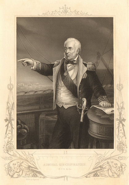 Associate Product CRIMEAN WAR. Admiral Sir Charles John Napier, KCB 1860 old antique print