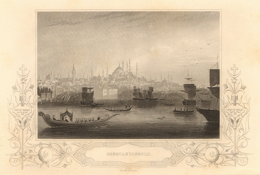 Associate Product CRIMEAN WAR. View of Constantinople. Istanbul 1860 old antique print picture
