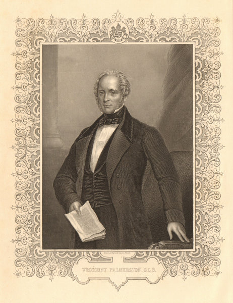 Associate Product CRIMEAN WAR. Henry John Temple, 3rd Viscount Palmerston, Prime Minister 1860