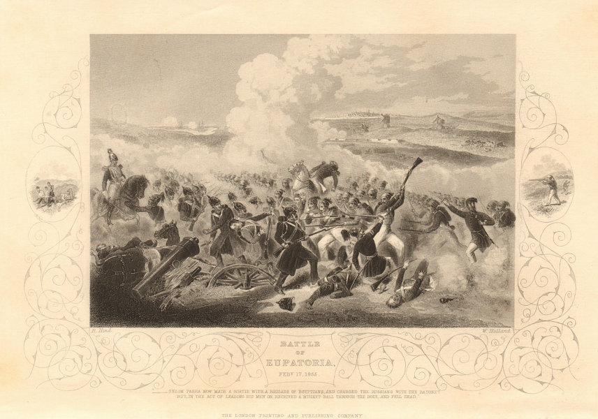 Associate Product CRIMEAN WAR. Battle of Eupatoria (Yevpatoria) February 17th 1855 1860 print