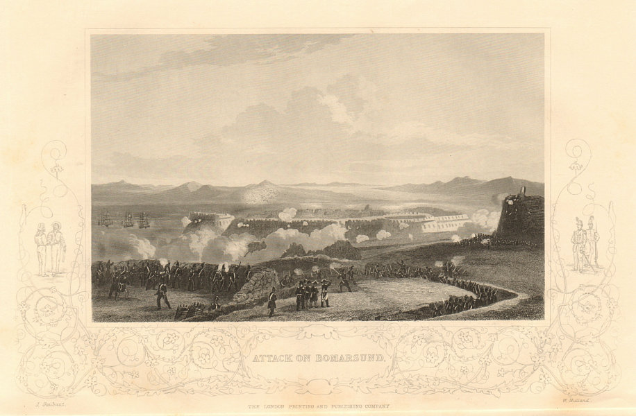 Associate Product CRIMEAN WAR. Attack on Bomarsund, August 1854. Aland islands, Finland 1860