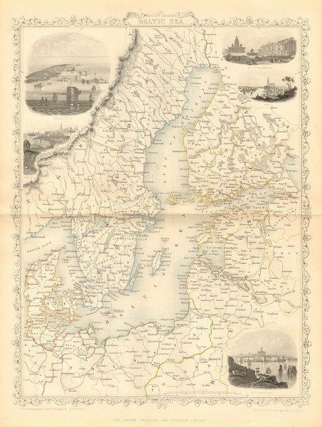 Associate Product BALTIC SEA Kronstadt St Petersburg Turku Tallinn Helsinki TALLIS/RAPKIN 1860 map