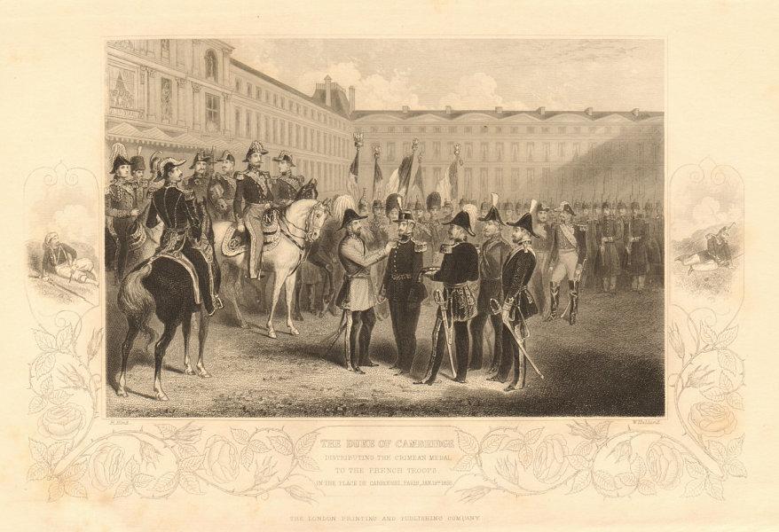 Associate Product Duke of Cambridge awarding medals Place de Carrousel, Paris 1860 old print