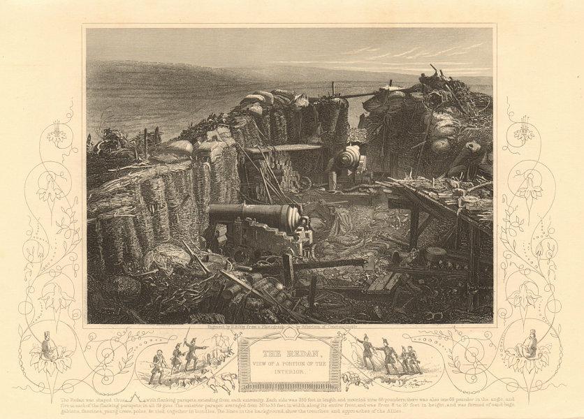 Associate Product CRIMEAN WAR. View of the interior of the Redan, Sevastopol 1860 old print