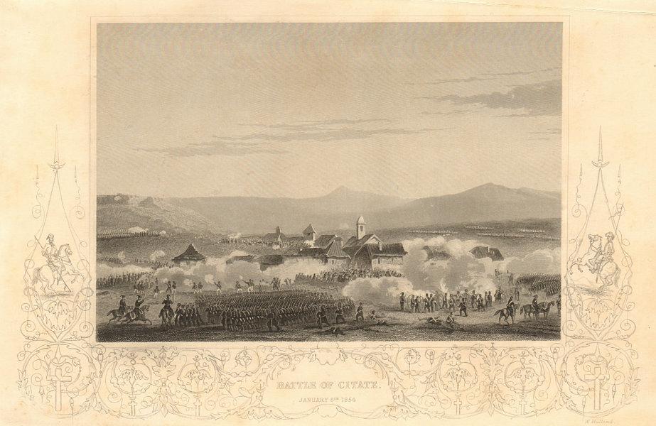 Associate Product CRIMEAN WAR. Battle of Citate, January 6th 1854. Romania 1860 old print