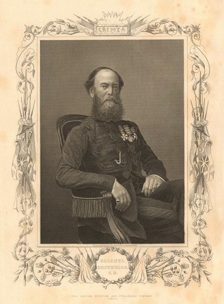 Associate Product CRIMEAN WAR. Colonel Brownrigg 1860 old antique vintage print picture