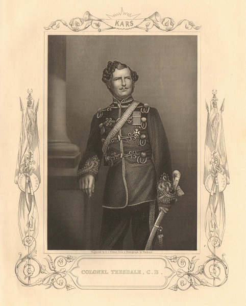 Associate Product CRIMEAN WAR. Colonel (later Major-General) Christopher Charles Teesdale, VC 1860