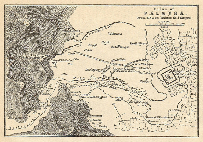 Associate Product Plan of the ruins of Palmyra. Syria 1912 old antique vintage map chart