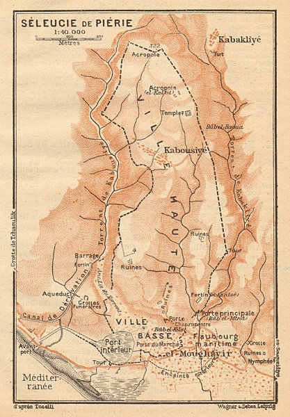 Associate Product Seleucia in Pieria. Samandag. Turkey 1912 old antique vintage map plan chart