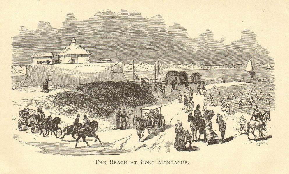 Associate Product The Beach at Fort Montagu, NASSAU, BAHAMAS. Paradise Island opposite 1891