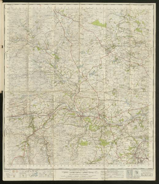 Associate Product Hexham Sheet 77 Tynedale Haydon Bridge North Pennines ORDNANCE SURVEY 1947 map