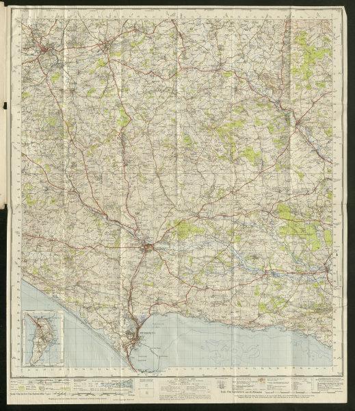 Associate Product Dorchester Sheet 178 Jurassic coast Dorset Weymouth ORDNANCE SURVEY 1945 map