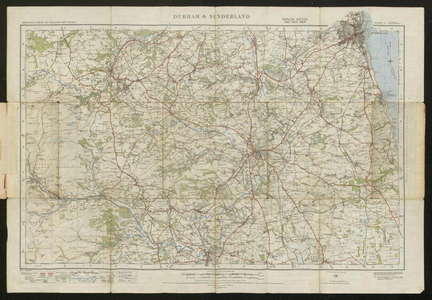 Associate Product Durham & Sunderland Sheet 11 River Wear valley Stanhope ORDNANCE SURVEY 1925 map
