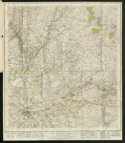 Associate Product Carlisle Sheet 76 Liddesdale Kielder Forest N. Pennines ORDNANCE SURVEY 1947 map