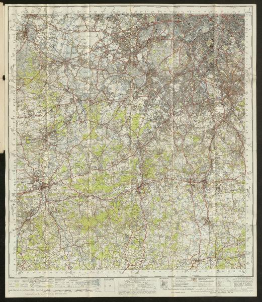 Associate Product London SW Sheet 170 Surrey Hills Guildford Dorking ORDNANCE SURVEY 1948 map