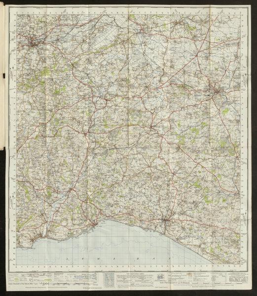 Associate Product Taunton Lyme Regis Sheet 177 Jurassic Coast Yeovil ORDNANCE SURVEY 1946 map