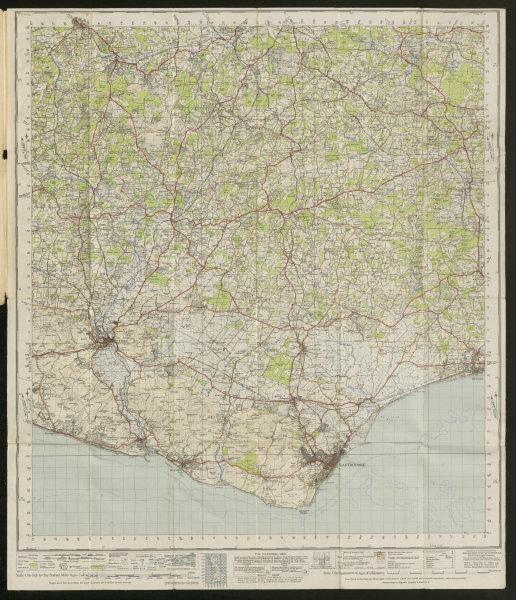 Associate Product Eastbourne Sheet 183 West Sussex Lewes High Weald ORDNANCE SURVEY 1940 old map