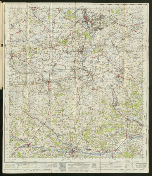 Associate Product Oxford & Newbury Sheet 158 Thames Valley Chilterns ORDNANCE SURVEY 1947 map