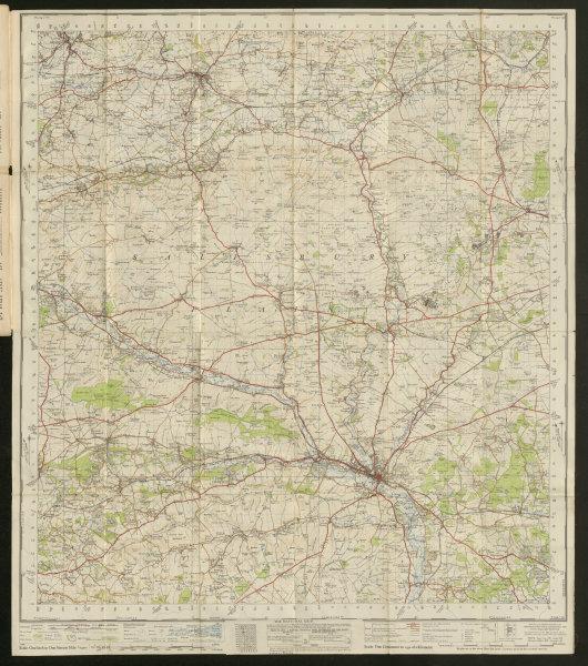 Associate Product Salisbury Plain Sheet 167 Devizes Cranborne Chase ORDNANCE SURVEY 1940 old map