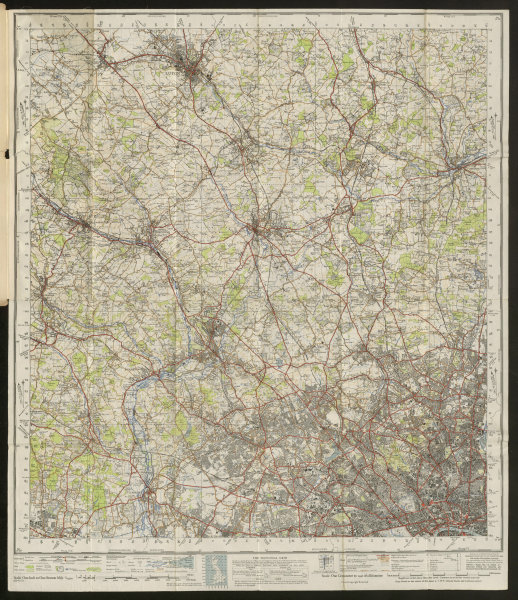 Associate Product London NW Sheet 160 Luton Watford St Albans Hertford ORDNANCE SURVEY 1945 map