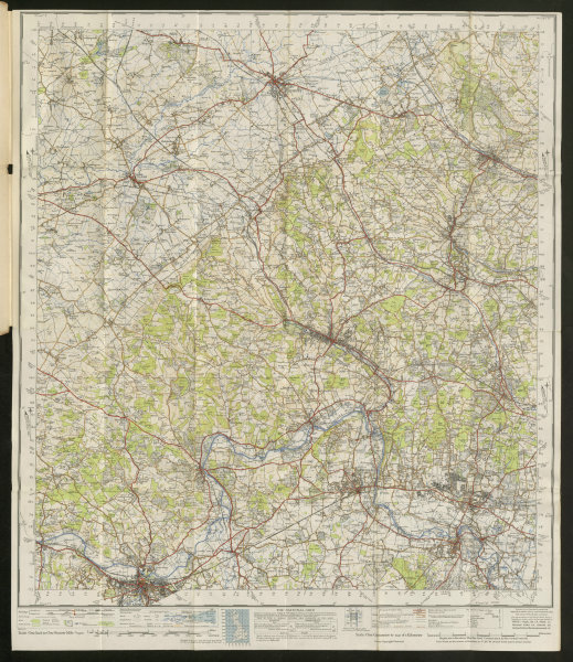 Associate Product Chilterns Sheet 159 Thames Valley Aylesbury Reading ORDNANCE SURVEY 1945 map