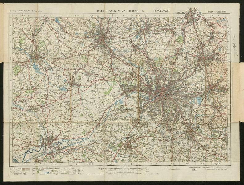 Associate Product Bolton & Manchester Sheet 36 Wigan Oldham Warrington ORDNANCE SURVEY 1924 map