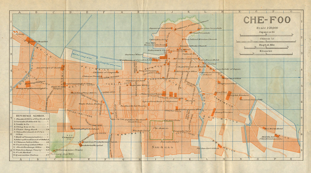 Associate Product 'Chefoo'. Yantai antique city town plan. China 1924 old map chart