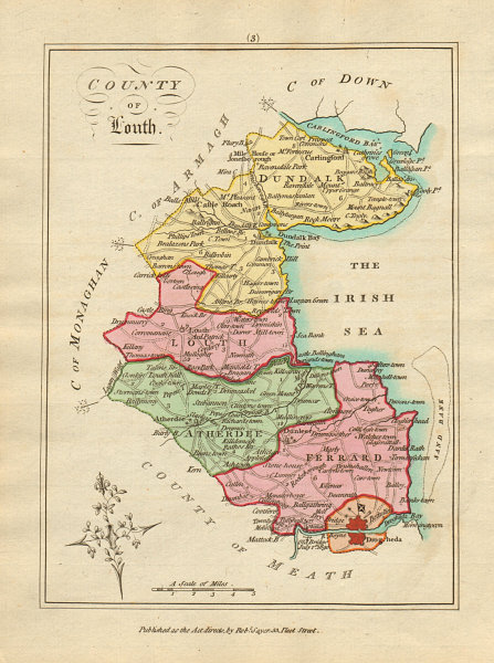 Associate Product County of Louth, Leinster. Antique copperplate map by Scalé / Sayer 1788